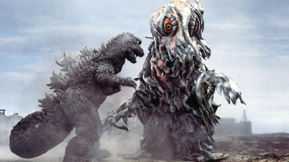 Godzilla Vs. Hedorah, an upright blob covered in red eyes