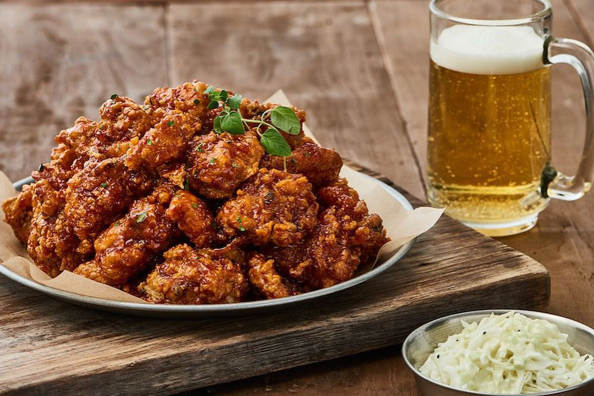 Korean Fried Chicken Restaurant Left Wing Bar Opens First ...