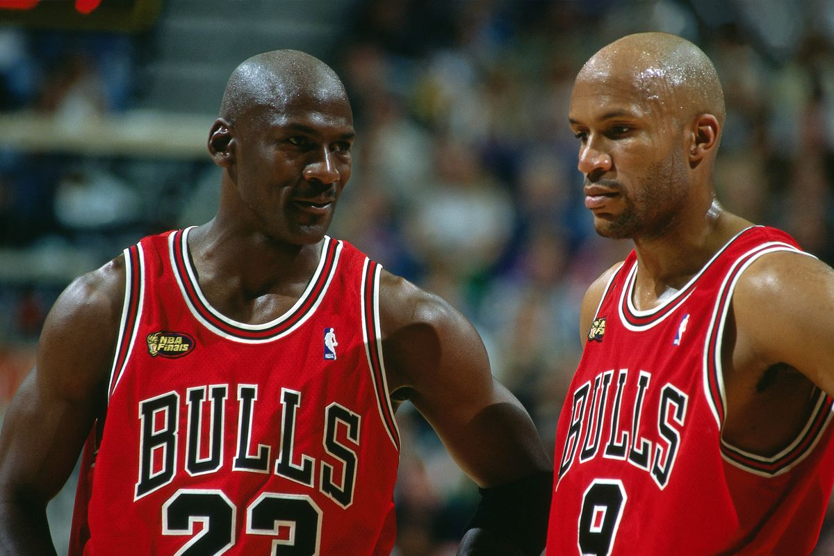 Michael Jordan and Ron Harper Game Portrait