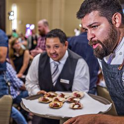 Colletta chef Michael Perez offers a description for one of his dishes.