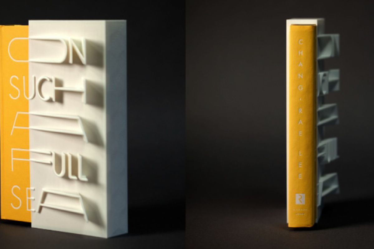 3D-printed book cover On Such a Full Sea