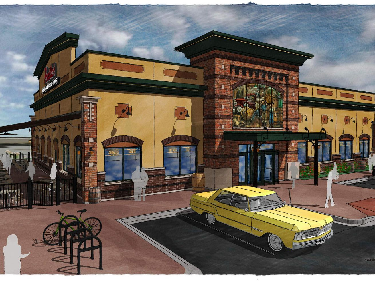 A rendering of the new Portillo's at Addison and Kimball