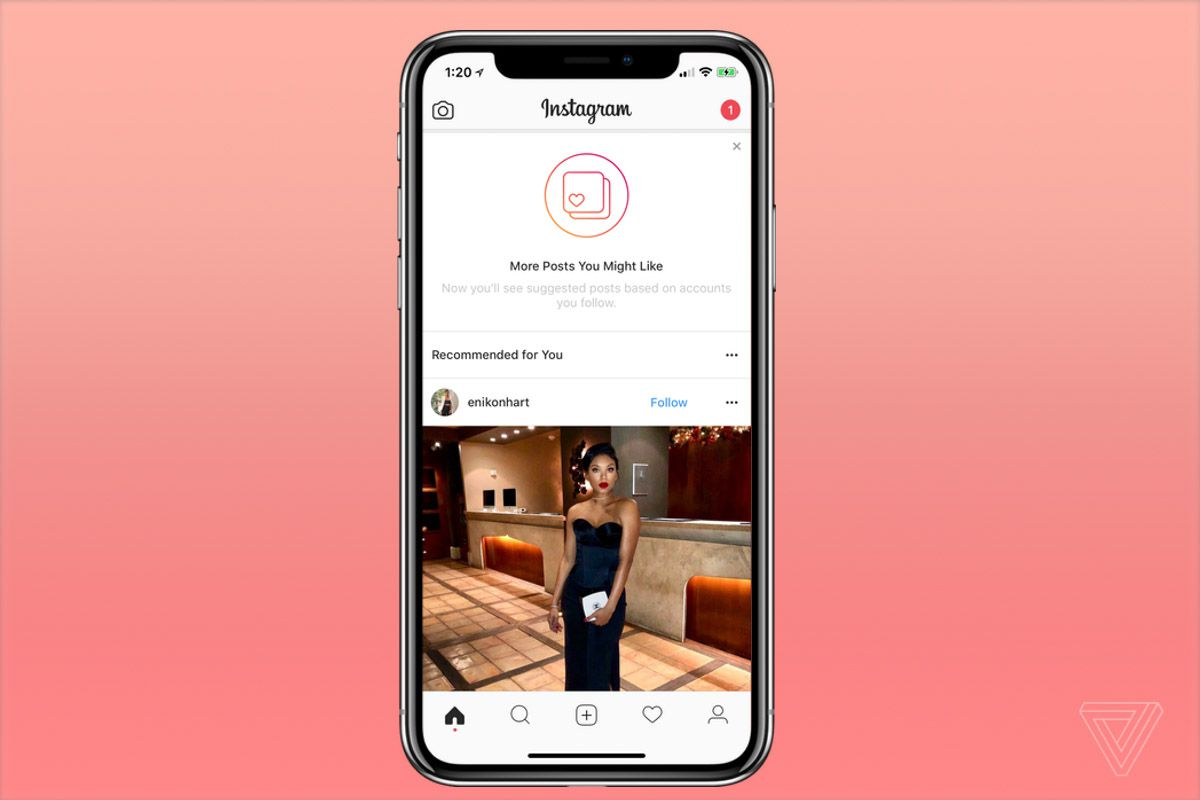 Instagram has a new feature that adds 'recommended' posts to your feed