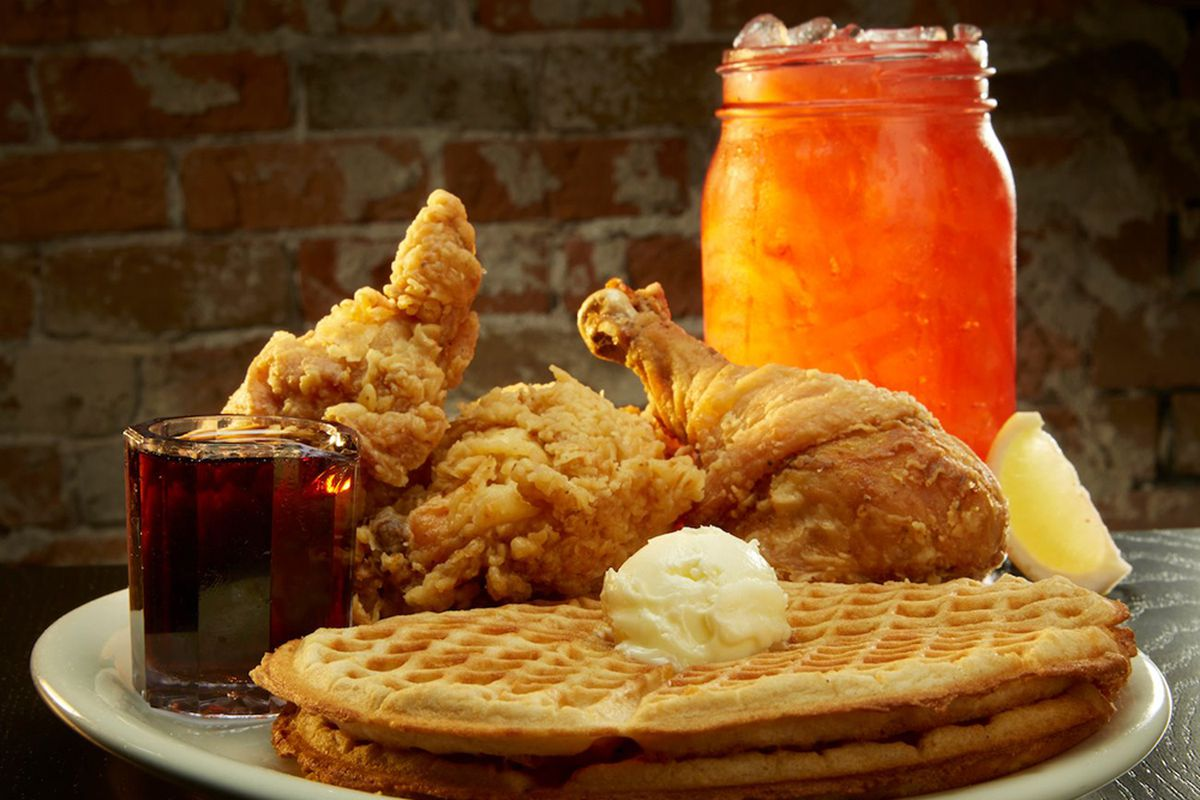 The namesake special dish from Lo-Lo's Chicken & Waffles, expanding to the Hughes Center.