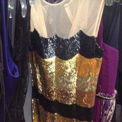 L'Wren Scott sequin dress with sheer top panel, $1,369