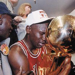Chicago Bulls great Michael Jordan and his father, James Jordan. | Sun-Times file photo