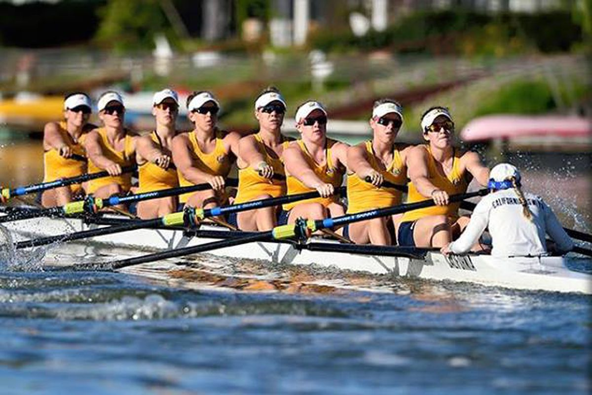ROW ON YOU BEARS! Cal Women's Varsity 8 looks to cap an undefeated season with a win today.
