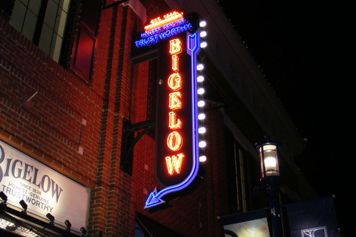 "C.O. Bigelow sign via <a href=""http://www.flickr.com/photos/raewhitlock/457259696/"">Rae Whitlock</a>/Flickr"