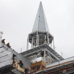 The steeple on the Provo City Center Temple.