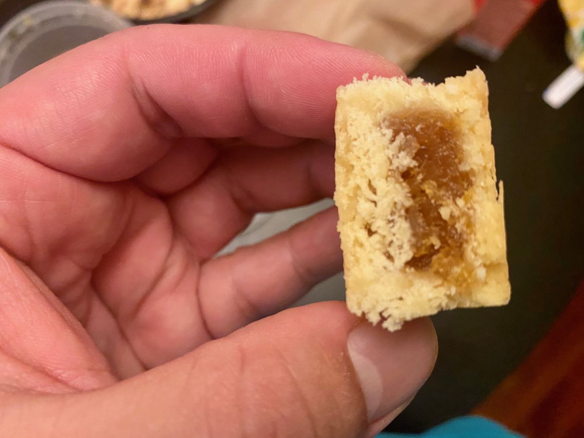 Cross section of a Home Flavory Eats pineapple cake