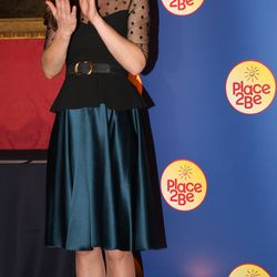 Attending the Place2be Wellbeing in Schools Awards Reception at Kensington Palace on November 19th, 2014 in a Hobbs top and Jenny Packham skirt.