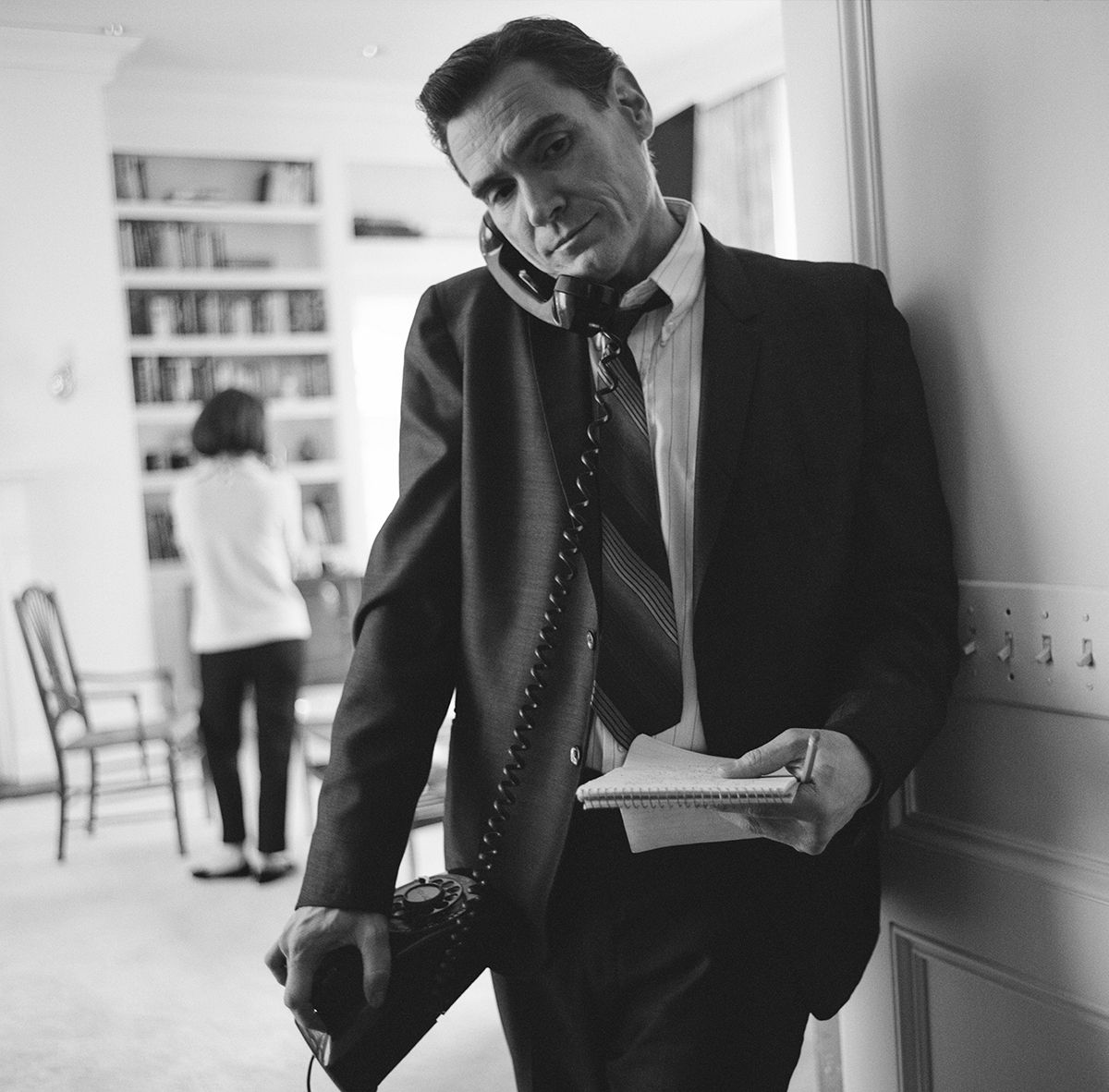 Crudup playing a journalist in Jackie.