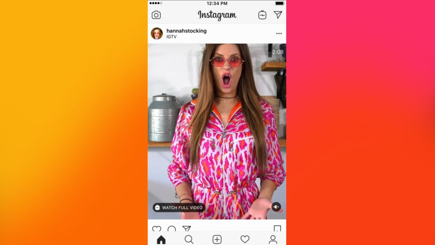 Instagram is putting IGTV previews in your main feed - The Verge