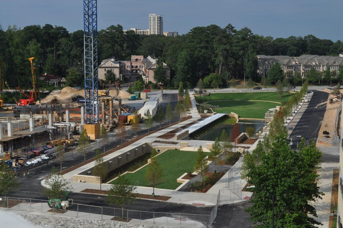 [The new park from above. Photos: Curbed]