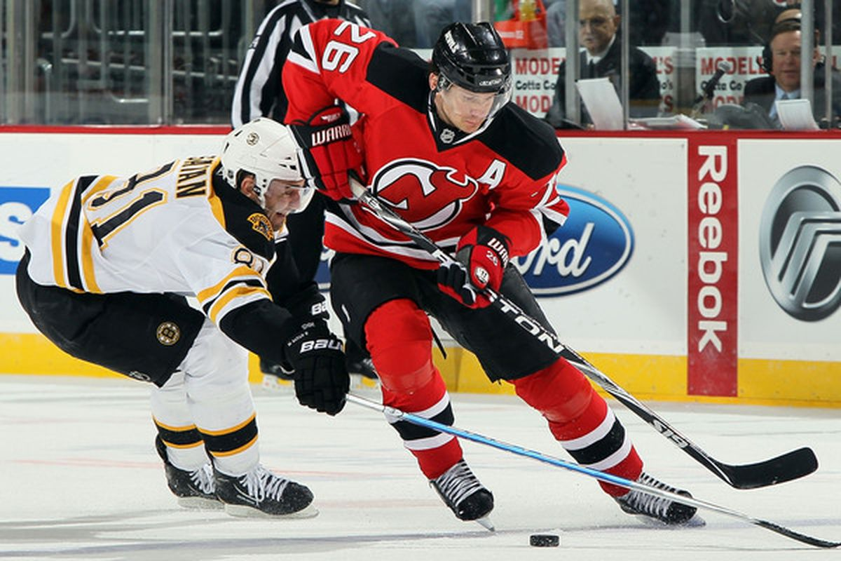 Here's Satan playing against the Devils four years ago.