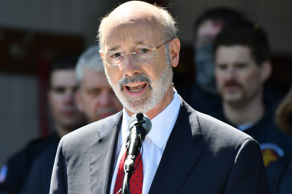 In this May 12, 2021 file photo, Gov. Tom Wolf speaks at an event in Mechanicsburg, Pa.