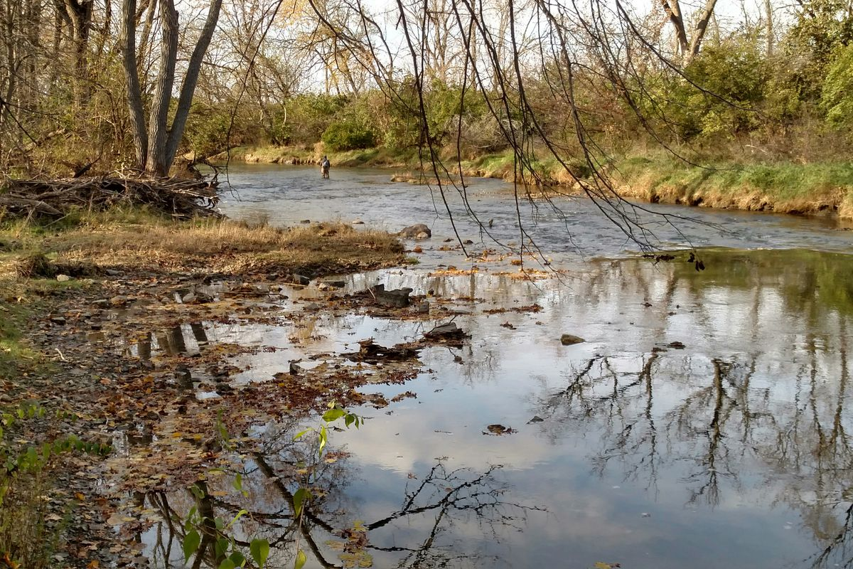 Rock Creek near Kankakee River State Park is one of the few early catch-and-release sites nearby  shown here in a file photo from the fall season. Credit: Dale Bowman
