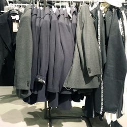 What's left of the Isabel Marant x H&M in the men's department at the Beverly Center.