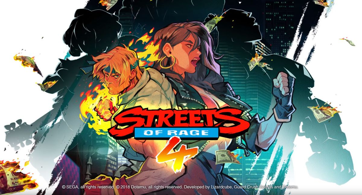 The title card for Streets of Rage 4
