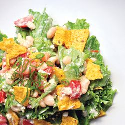 """Taco Salad is one the recipes in """"Good and Cheap: Eat Well on $4/Day"""" is by Leanne Brown."""