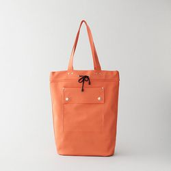 """<b>MHL by Margaret Howell</b> Welded Tote in orange, <a href=""""http://www.stevenalan.com/WELDED-TOTE/79910,default,pd.html#cgid=womens-shoes-and-accessories-bags-slgs&view=all&frmt=ajax&start=0&hitcount=121"""">$140</a>"""