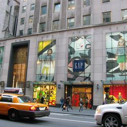 Here's a front view from Fifth Avenue. Note that all four big windows have DVF in them.