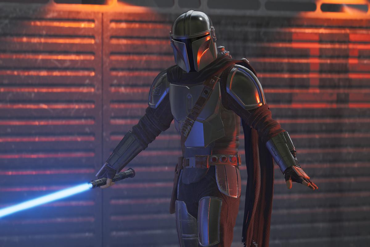 Din Djarin from the Mandalorian in Star Wars: Jedi Fallen Order