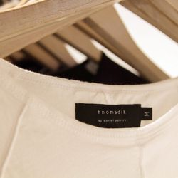 BASE is home to racks of exclusive labels, like this androgynous set of threads from Knomadik.