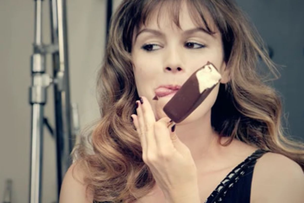 To Celebrate Its Nationwide Launch Magnum Ice Cream Premiered Three Shorts Directed By Fashion Designer Karl Lagerfeld Starring Actress Rachel Bilson