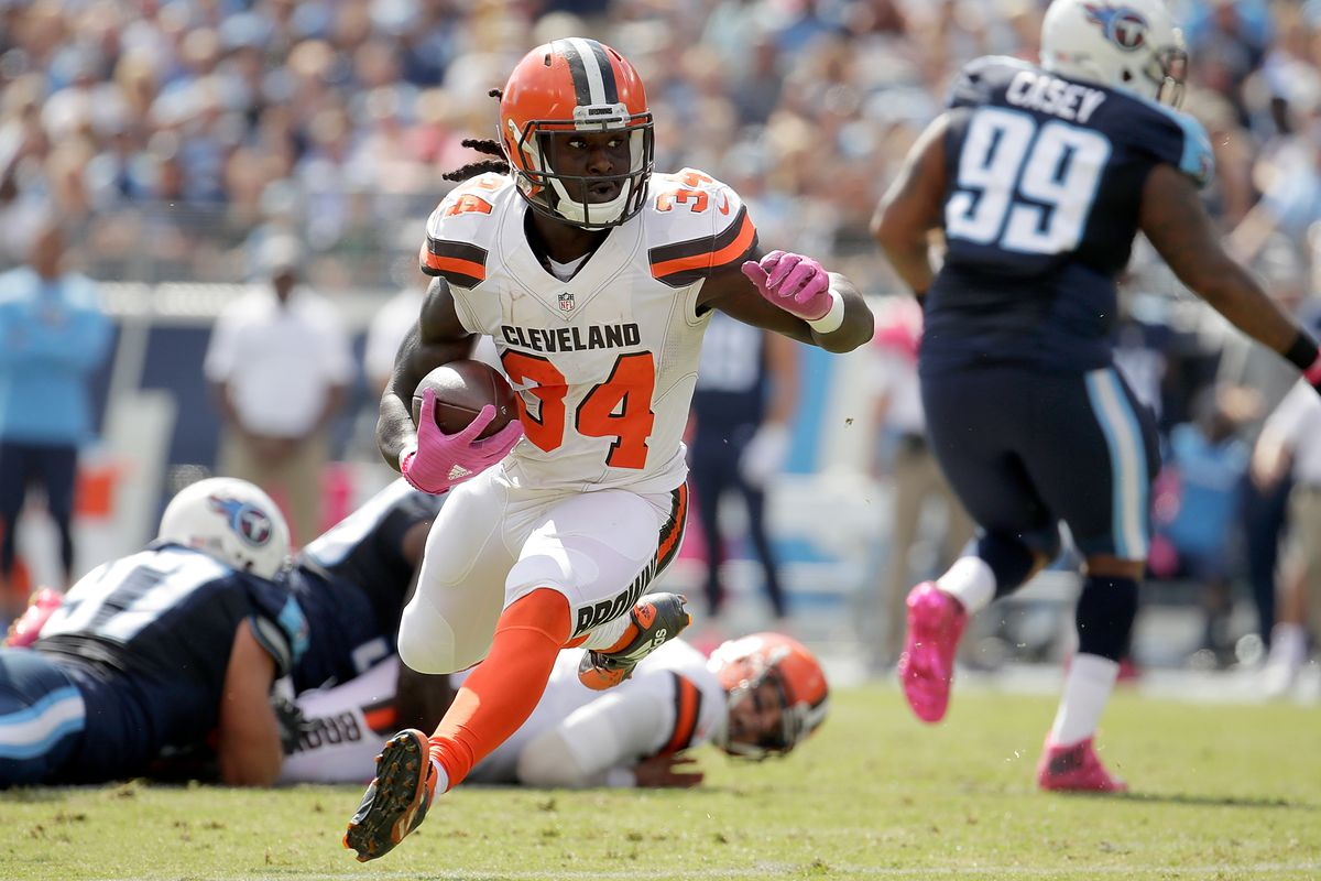 info for f7524 45c21 Isaiah Crowell reports to 1st day of Cleveland Browns OTAs ...