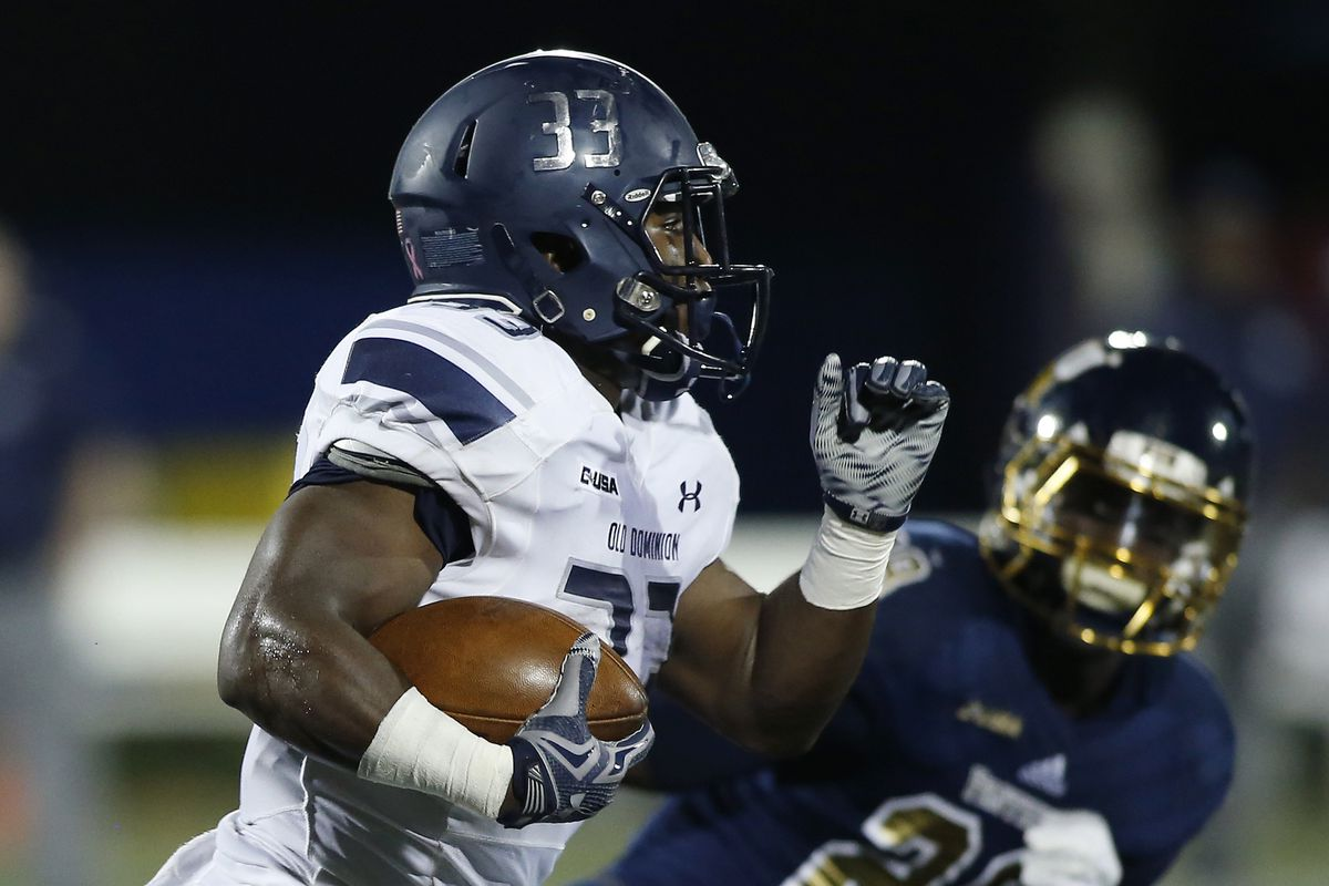 Old Dominion running back Ray Lawry will be the focal point of the Monarchs' offense