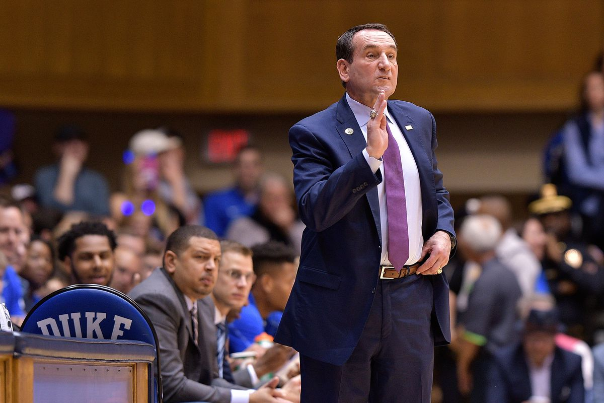 Coach K misses Wake Forest win with virus