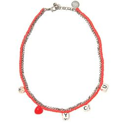 "<b>Venessa Arizaga</b> Love You necklace, <a href=""http://www.kirnazabete.com/accessories/jewelry/love-you-necklace"">$180</a> at Kirna Zabete"