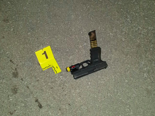 One of two weapons recovered at the scene of a police-involved shooting Saturday, Feb. 17, 2019 in the 2100 block of South Keeler. | Chicago police