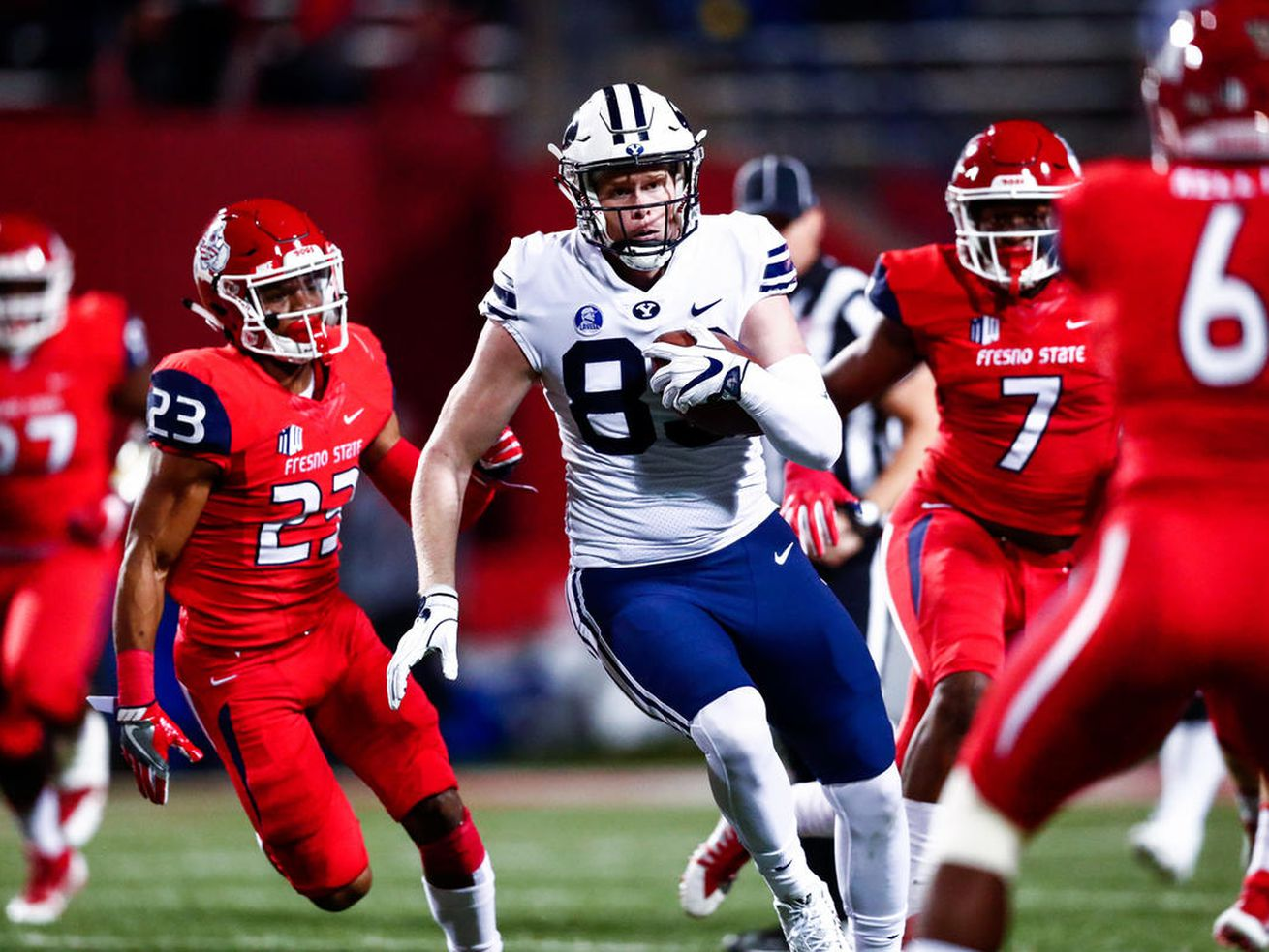 BYU tight end Matt Bushman says he will decide after Hawaii Bowl if he will forgo senior season for the NFL draft