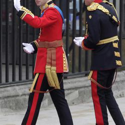 Britain's Prince William, left, and his best man Britain's Prince Harry  arrive at Westminster Abbey at the Royal Wedding in London Friday, April 29, 2011.