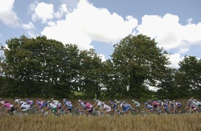 Peloton rides through countryside