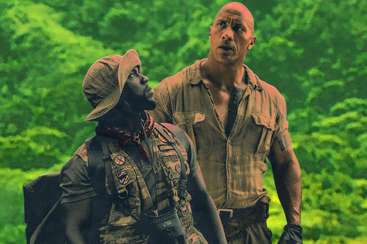 Kevin Hart and Dwayne Johnson in 'Jumanji'
