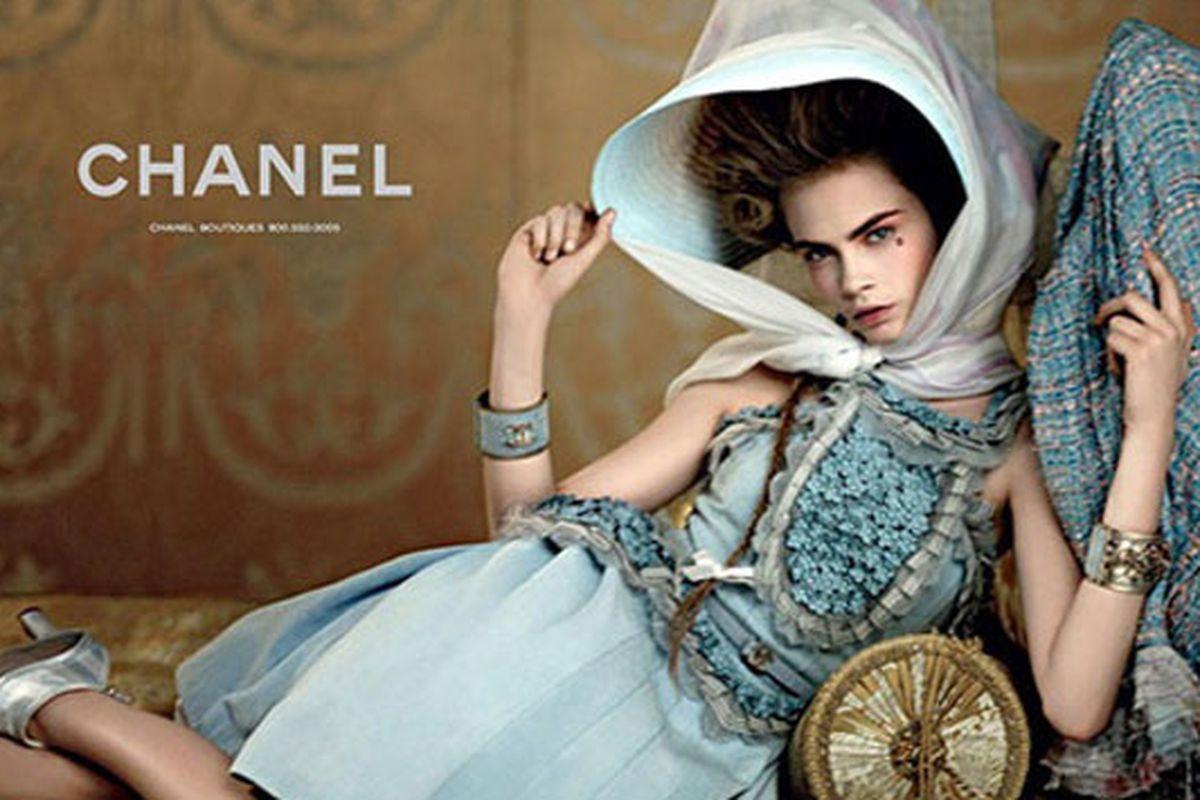 """Cara Delevingne for Chanel, via <a href=""""http://www.graziadaily.co.uk/fashion/archive/2012/10/26/cara-delevingne.htm"""">Grazia</a>"""