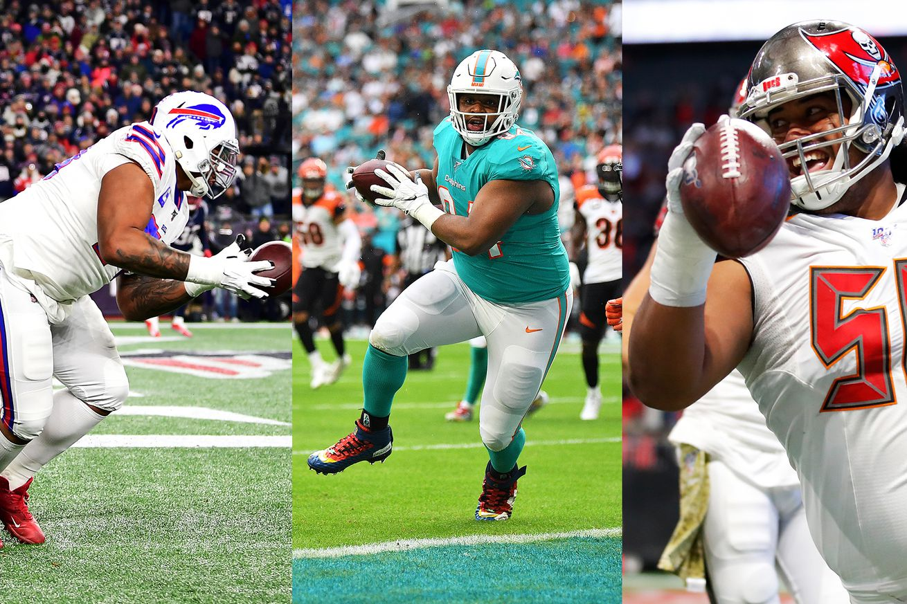 touchdowns.0 - The best NFL trend is 300-pounders catching touchdowns