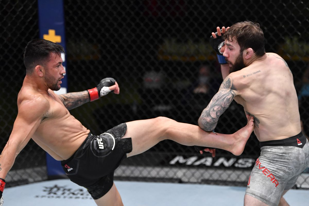 UFC Vegas 20 results: Pedro Munhoz destroys Jimmie Rivera's leg with calf kicks to exact revenge in rematch - MMA Fighting