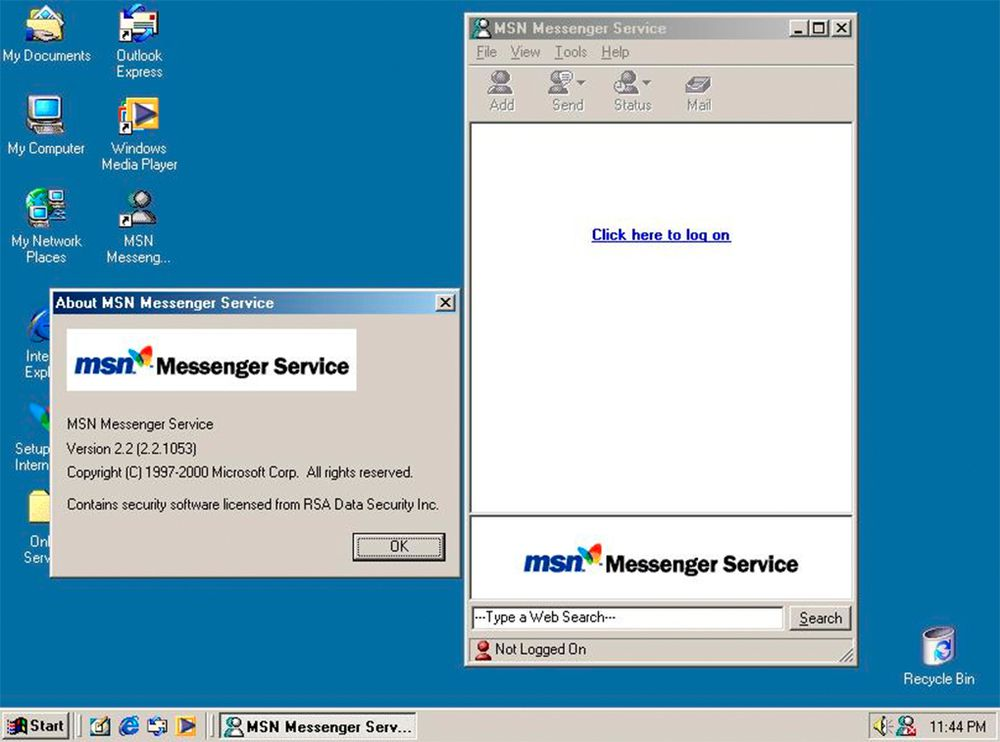 MSN Messenger in 1999