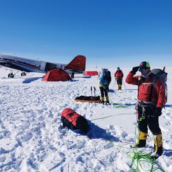 Utahn David Roskelley, right, was recently part of an expedition to climb Mount Sidley, the highest volcano in Antarctica.