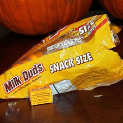 Zack Berger purchased some Halloween candy from Walmart, and when his sister-in-law was eating a snack size package of Milk Duds, she found there were bugs crawling around in the box.