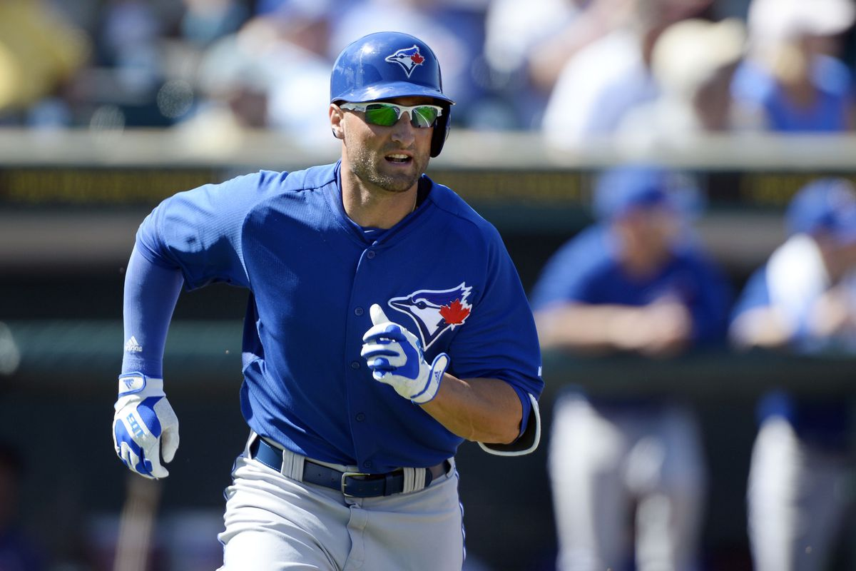 Kevin Pillar legging out a double.