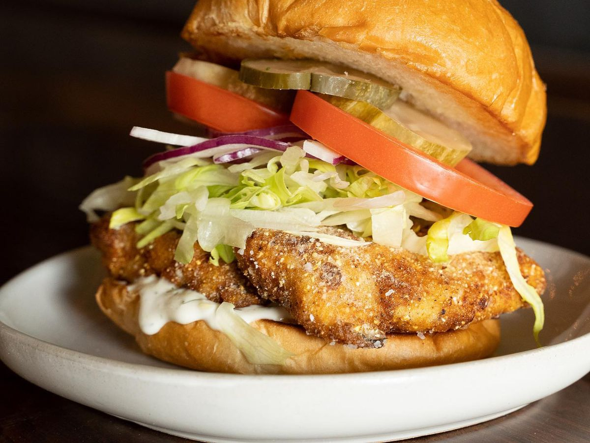 The fish sandwich at Huckleberry
