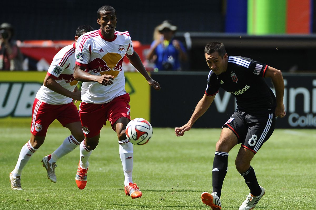 Roy Miller in another derby game against DC United
