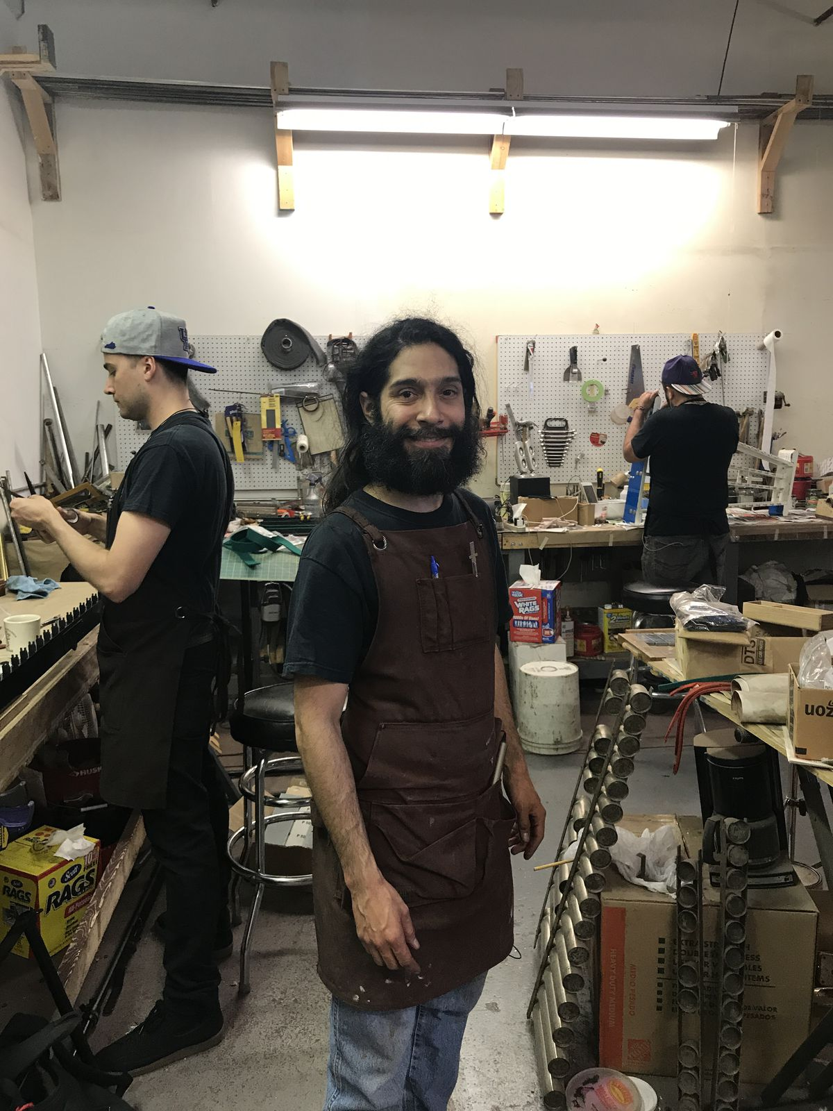 Andres Bautista, owner of Century Mallet Instrument Service in Ravenswood.   Ji Suk Yi Sun-Times