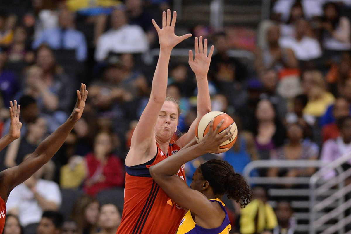 If Nneka Ogwumike was having trouble getting a shot off against Emma Meesseman, just imagine what Elena Dolle Donne could do against her...  Ok, ok, I just looked for an excuse to put Meesseman on the cover.