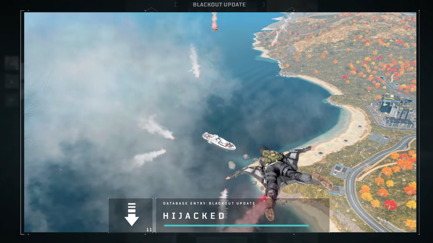 Call of Duty Blackout's map is changing this week, adds Hijacked
